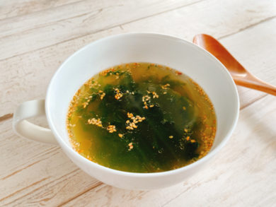 お湯を注ぐだけ!あおさの中華スープ
