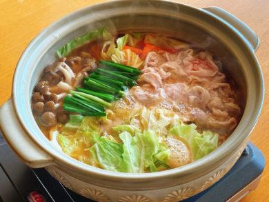 豚バラキャベツ鍋【にんにく味噌味】