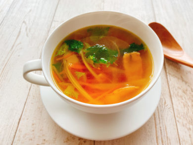 セロリとにんじんのスープ