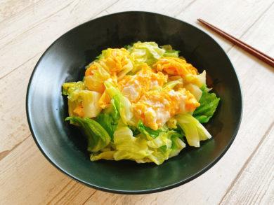 ふわふわ卵とキャベツの中華炒め