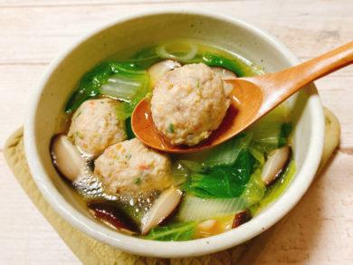 鶏団子入り白菜スープのレシピ