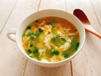 レタスと卵のコンソメスープ