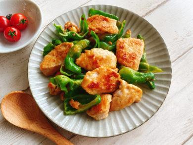 鶏胸肉とピーマンのオイマヨ炒め