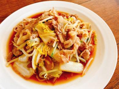 豚肉と白菜のポン酢炒め