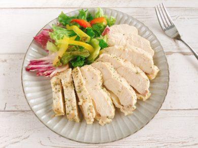 レンジで簡単 サラダチキン(巻かない鶏ハム)ハーブ風味のレシピ