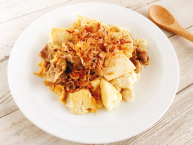 豆腐と豚肉のチャンプルー