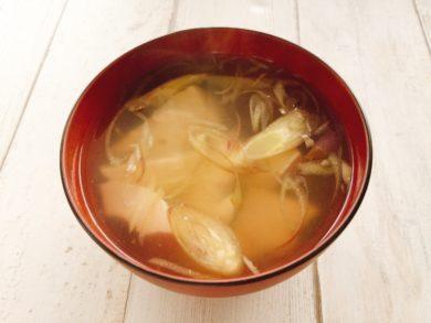 豆腐としょうがとみょうがのスープ